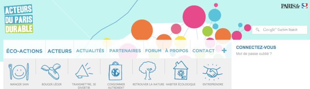 Site web de la Maison des Acteurs du Paris Durable